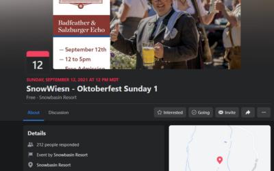 Join Petra at Snowbasin Resort for Oktoberfest 2021